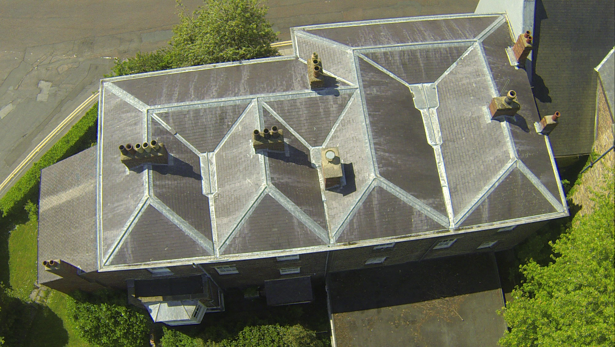 Rooftop inspection image - Survey Drones