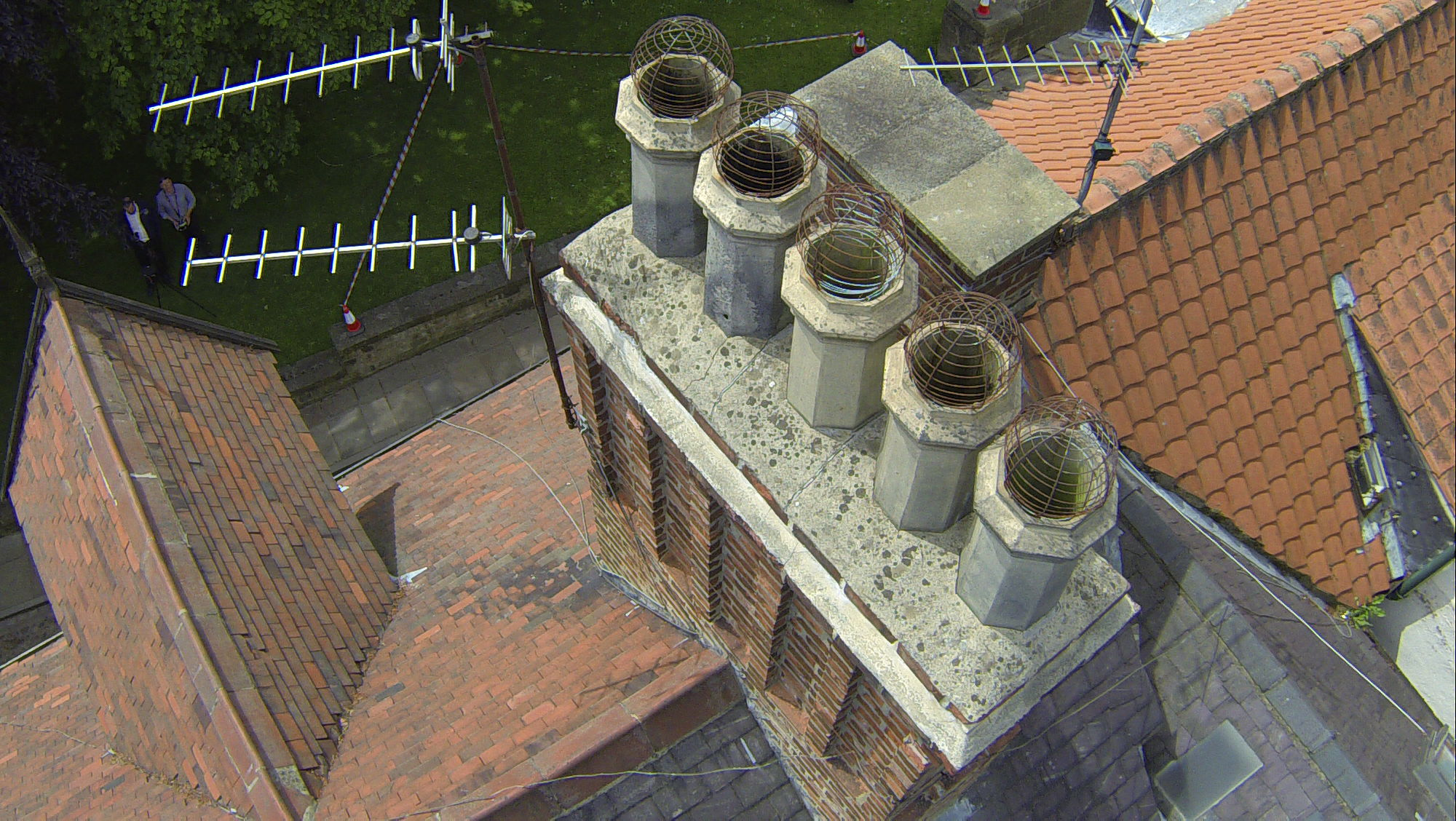 Aerial view of chimneys - Survey drones
