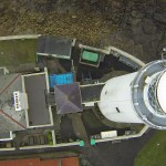 Lighthouse direct aerial view - Survey Drones