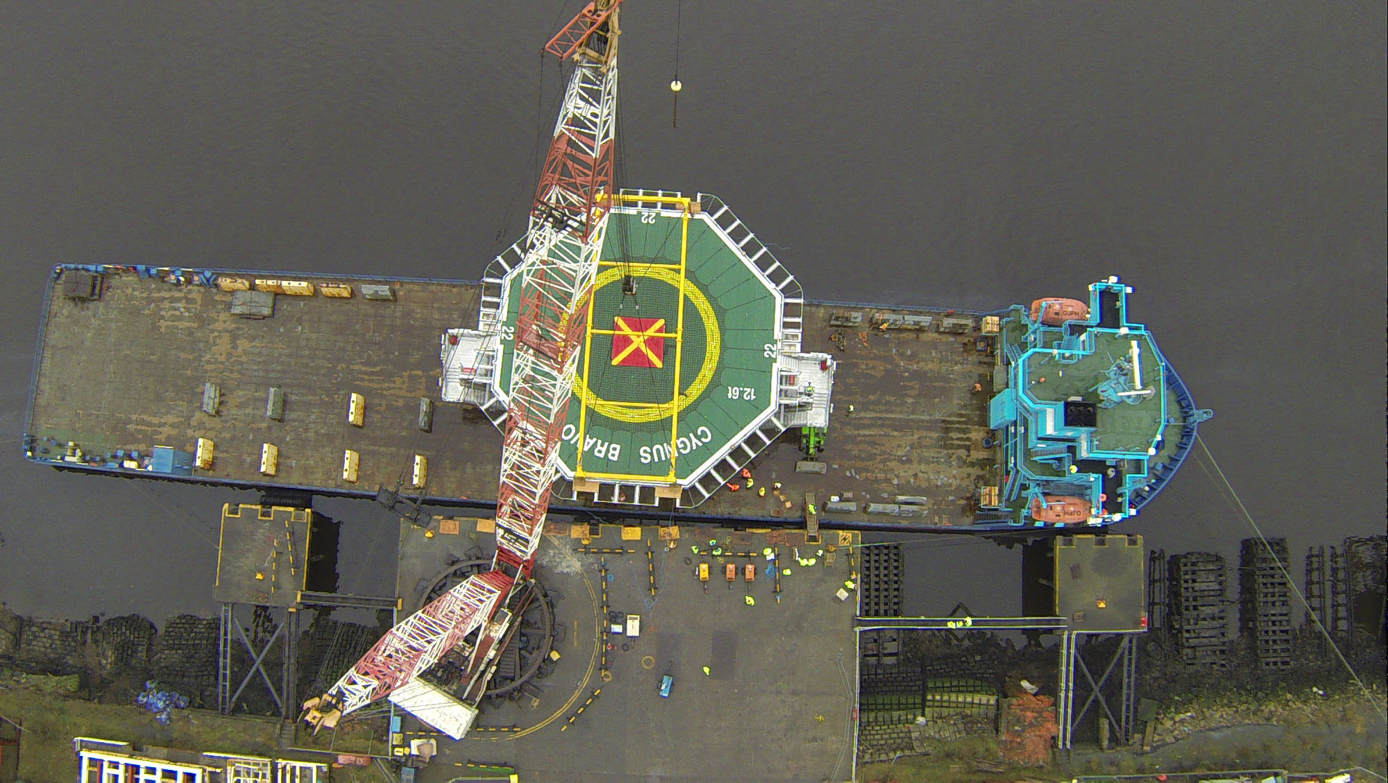Helipad at port survey - Survey Drones